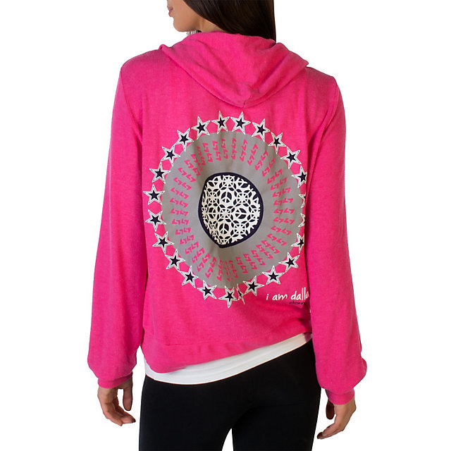 Dallas Cowboys Peace Love World Bright Pink Hoodie