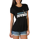 Dallas Cowboys Peace Love World Love Black Crew Tee