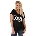 Dallas Cowboys Peace Love World Black V-Neck Tee