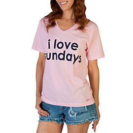 Dallas Cowboys Peace Love World I Love Sundays Tee