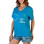 Dallas Cowboys Peace Love World Infinity V-Neck Tee