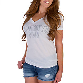 Dallas Cowboys PINK V-Neck Tee