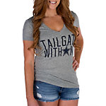 Dallas Cowboys PINK Fitted V-Neck Tee