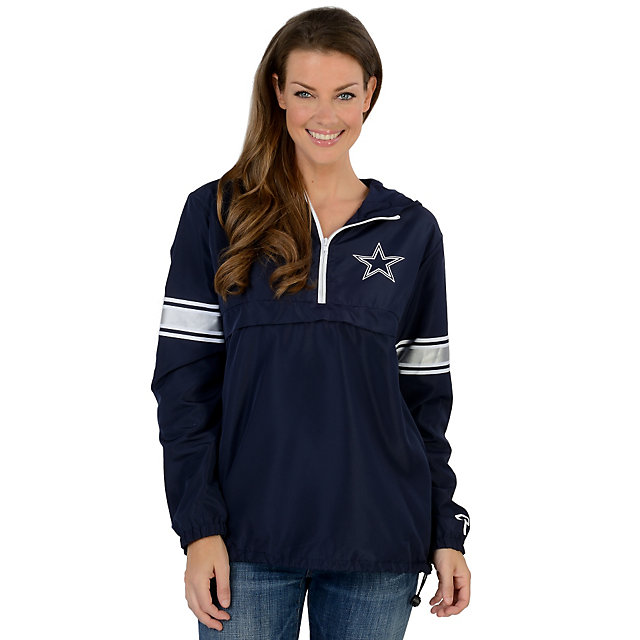 Dallas Cowboys PINK Half Zip Windbreaker