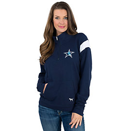 Dallas Cowboys PINK Bling Half Zip Jacket