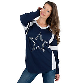 Dallas Cowboys PINK Bling Varsity Crew