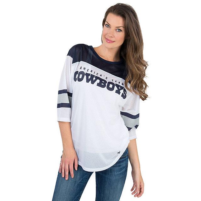 Dallas Cowboys PINK Mesh Boyfriend Jersey