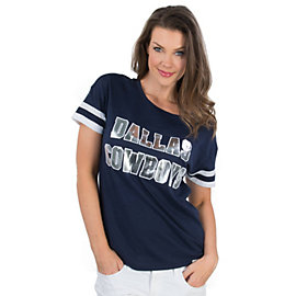 Dallas Cowboys PINK Scoop Athletic Tee