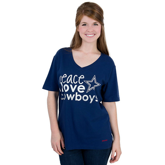 Dallas Cowboys Peace Love World Basic Training Camp Tee