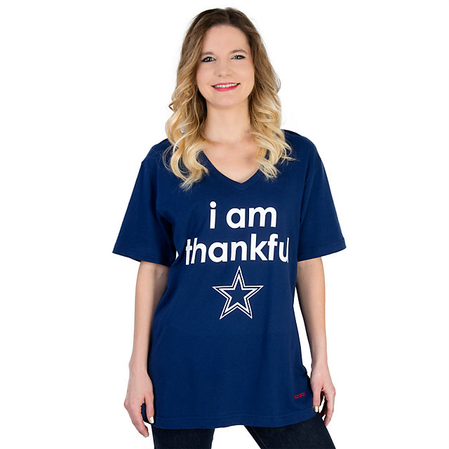 Dallas Cowboys Peace Love World I Am Thankful Tee
