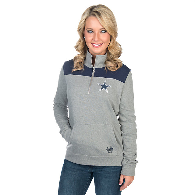 Dallas Cowboys PINK Campus Quarter-Zip Pullover