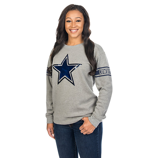 Dallas Cowboys PINK Bling Campus Crew
