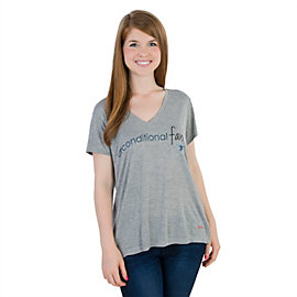 Dallas Cowboys Peace Love World Unconditional Victoria Tee