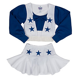 Dallas Cowboys Girls Deluxe Cheer Uniform