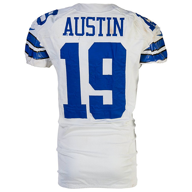 Dallas Cowboys Nike Miles Austin #19 Game Worn 11/24/13 Jersey