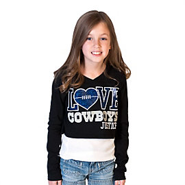 Dallas Cowboys Justice Love Crop Hoody