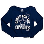Dallas Cowboys Justice Open Neck Cheer Pullover