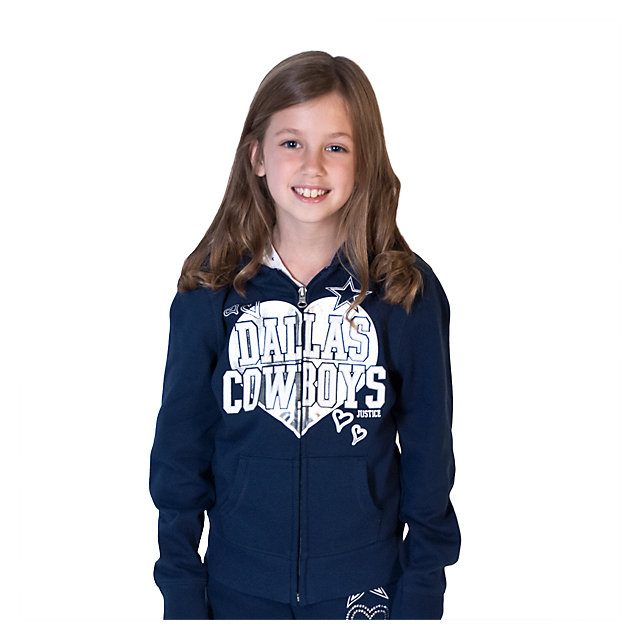 Dallas Cowboys Justice Full Zip Heart Hoody