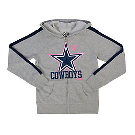 Dallas Cowboys Justice Arm Stripe Full Zip Hoodie