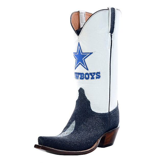 Dallas Cowboys Lucchese Womens Navy Stingray Boot - Width B