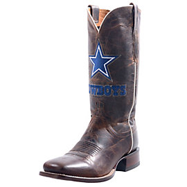 Dallas Cowboys Lucchese Mens Tan Madras Horseman Boot - Width D