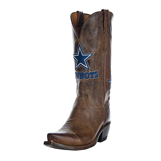 Dallas Cowboys Lucchese Womens Tan Horseman Boot - Width B