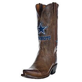 Dallas Cowboys Lucchese Womens Tan Horseman Boot - Width C