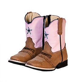 Dallas Cowboys Infant/Toddler Classic Pink Western Boot