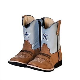 Dallas Cowboys Infant/Toddler Classic Grey Western Boot
