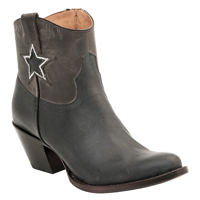 Dallas Cowboys Lucchese Womens Grey and Blue Shortie Boot