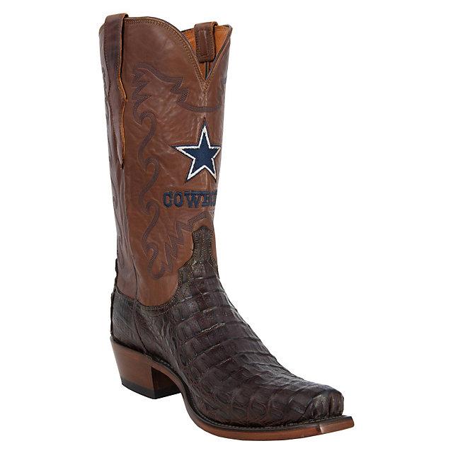 Dallas Cowboys Lucchese Mens Burn Ranch Boot - Width D