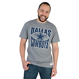Dallas Cowboys Mitchell & Ness Grey Mens Tee