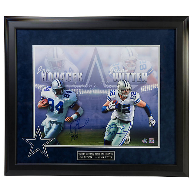 Dallas Cowboys Witten and Novacek Legends Autographed Framed Photo