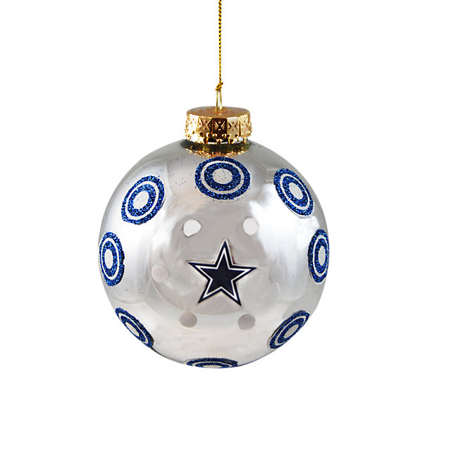 Dallas Cowboys Glitter Polka Dot Ornament