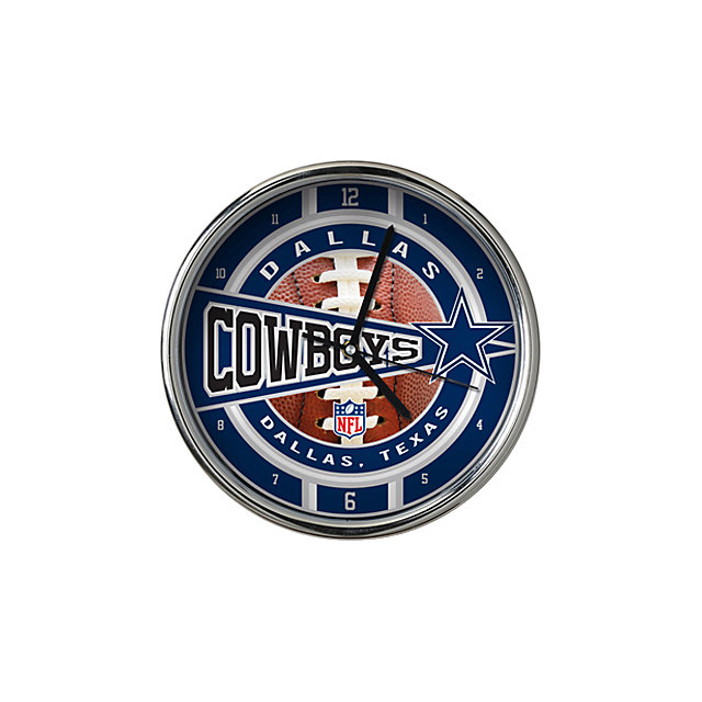 Dallas Cowboys Chrome Wall Clock