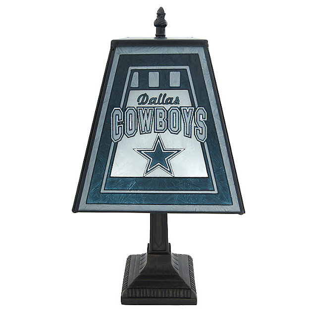 Dallas Cowboys 14-inch Art Glass Lamp