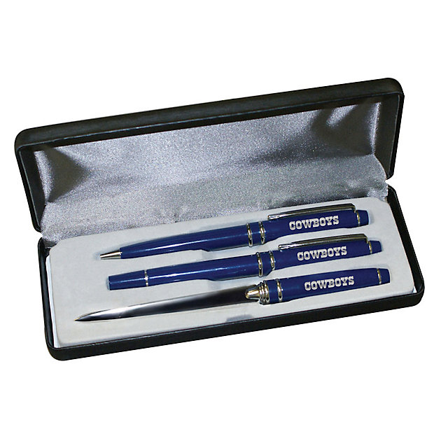 Dallas Cowboys 3-Piece Engraved Pen Gift Set