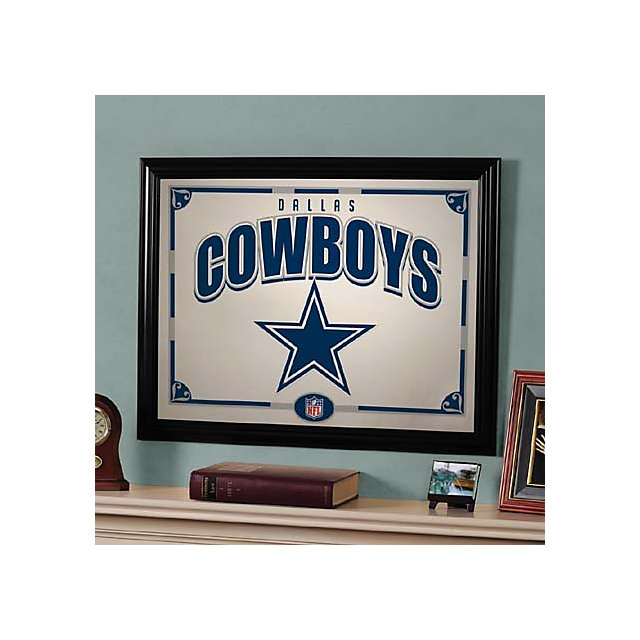 Dallas Cowboys Black Framed Mirror Home Decor Home