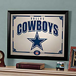 Dallas Cowboys Black Framed Mirror