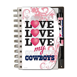 Dallas Cowboys Pink Hardcover Notebook and Pen Set
