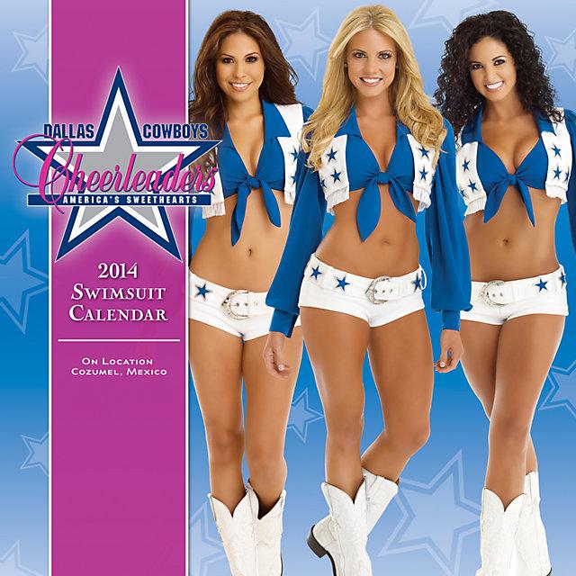 Dallas Cowboys Cheerleaders 2014 15x15 Swimsuit Wall Calendar