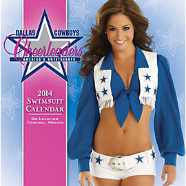 Dallas Cowboys Cheerleaders 2014 Swimsuit Desktop Boxed Calendar