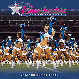 Dallas Cowboys Cheerleaders 2014 12x12 Sideline Wall Calendar