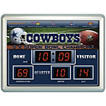 Dallas Cowboys Scoreboard Wall Clock
