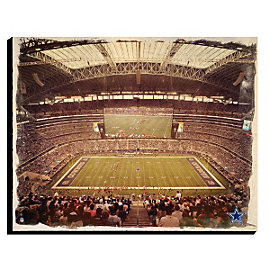 Dallas Cowboys Canvas Art - Water Color 16x20