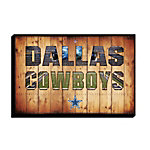 Dallas Cowboys Canvas Art - Team Pride Crate 21.5x32