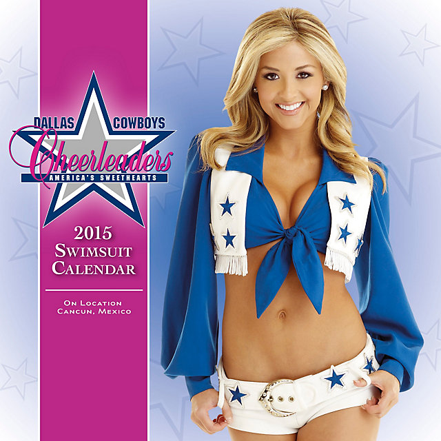 Dallas Cowboys Cheerleaders 2015 7x7 Swimsuit Mini Calendar