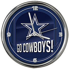 Dallas Cowboys Go Team Chrome Clock