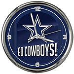 Dallas Cowboys Go Team Chrome Clock