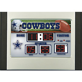 Dallas Cowboys Scoreboard Desk Clock